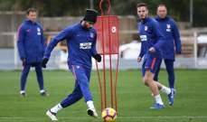 اتلتيكو مدريد يواصل استعداداته لمواجهة برشلونة بتواجد الخماسي المصاب