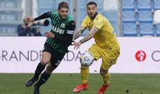 الكالتشيو: ساسولو يحقق فوزاً مثيراً امام فيرونا في مباراة مليئة بالاهداف