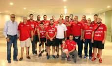 عودة منتخب لبنان لكرة السلة الى بيروت