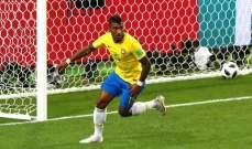 باولينيو رجل مباراة البرازيل امام صربيا