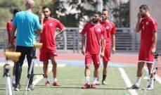 إختبار بدني للاعبين في منتخب لبنان