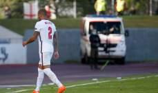 وولكر يخشى على مسيرته الدولية بعد طرده من مباراة أيسلندا
