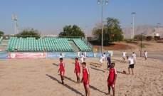 ودياً منتخب عمان يسحق نظيره اللبناني في الكرة الشاطئية