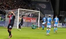 الكالتشيو : نابولي يخطف فوزاً متأخراً امام كالياري