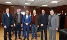 اتحاد السلة زار وزير الشباب والرياضة العميد الركن عبد المطلب الحناوي