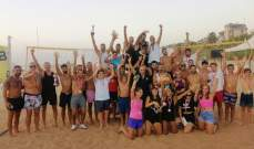 اختتام بطولة جمعية WE ARE THE HOPE للكرة الطائرة الشاطئية