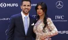 فابريغاس ينضم الى زوجته ويساند لبنان