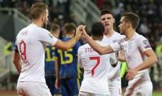 تصفيات يورو 2020: إنكلترا تسحق كوسوفو والتشيك تسقط امام بلغاريا