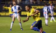 كأس ملك اسبانيا : قادش يفوز على اسبانيول وفياريال يفرط في الفوز