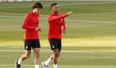 تدريبات اتلتيكو مدريد تشهد بدء عودة اللاعبين الدوليين