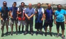 """رماية : جوزيف حنا بطل المرحلة الرابعة من بطولة لبنان للتراب الفئة """"أ"""""""