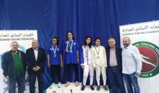 نتائج بطولة لبنان في المبارزة للصيصان والبراعم