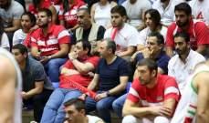 باسيل يتابع مباراة لبنان مع الحلبي