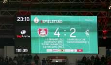 كأس المانيا:باير ليفركوزن في المربع الذهبي بعد الاطاحة  بفيردر بريمن
