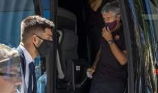 جماهير برشلونة توبخ آمور واللاعبون يغادرون من الباب الخلفي