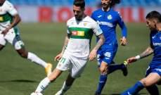 الدوري الإسباني: خيتافي ينقاد إلى تعادل مع التشي