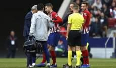 ضربة جديدة لاتلتيكو مدريد خلال مباراة الافيس