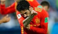 ايسكو يفوز بجائزة افضل لاعب في مباراة اسبانيا والمغرب