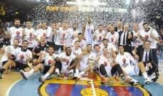 ريال مدريد يتوج بلقب الدوري الاسباني لكرة السلة على حساب برشلونة