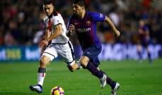 برشلونة يحقّق فوزاً متأخراً على مضيفه رايو فاليكانو