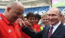 بوتين يقوم بزيارة تفقدية إلى أحد ملاعب كأس العالم