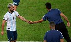 سكالوني يؤكد مشاركة أغويرو ضد البرازيل