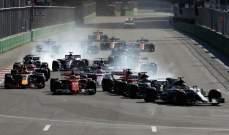 ريكياردو يقتنص الانتصار في سباق جائزة أذربيجان الكبرى بعد احداث جنونية