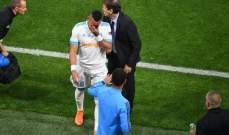 باييت يغادر مواجهة اتلتيكو مدريد بالدموع متأثرا بالاصابة