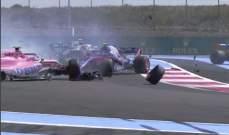 3 سائقين فرنسيين بدأوا جائزة فرنسا وإثنين منهما لم يصمدا لفة واحدة