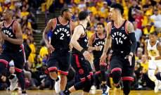 NBA: رابتورز يهزم ووريورز ويتقدم 3-1 في السلسلة