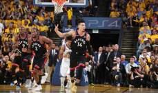 NBA : تورنتو يفوز على غولدن ستايت ويتقدم 2-1 في النهائي