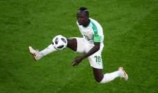 السنغالي ساديو ماني يحصل على جائزة رجل المباراة امام اليابان