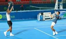 نوفاك ديوكوفيتش سعيد لتحقيق الفوز في الزوجي مع شقيقه