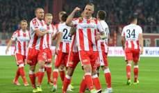 قمة الجولة ال14 في دوري الدرجة الثانية الالمانية تنتنهي بالتعادل