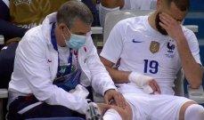 كريم بنزيما يترك لقاء بلغاريا مصابا