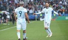رقم مميز من نصيب اغويرو بعد تسجيله امام تشيلي