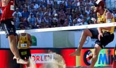 لاتفيا تفوز على كندا في كرة الطائرة الشاطئية