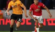 مانشستر يونايتد يفرط بالفوز امام ولفرهامبتون ويكتفي بالتعادل في الدوري الإنكليزي