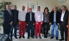 الوزير فنيش التقى وفد اتحاد الدراجات الهوائية