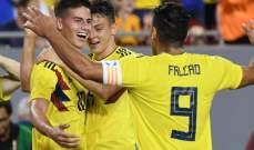 ودياً: كولومبيا تتفوق على اميركا والمكسيك تفوز على كوستا ريكا