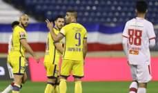الدوري السعودي: النصر يتخطى ابها بثنائية