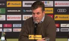 مدرب مونشنغلادباخ: دورتموند افضل فريق في الدوري