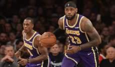 NBA: الليكرز يسجل فوزاً جديداً وغولدن ستايت يتخطى بروكلين بدون كوري