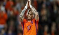 شنايدر سعيد بلعب مباراته الختامية مع المواهب الهولندية الصاعدة