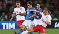 ايطاليا تستحق ركلة الجزاء امام بولندا في دوري الامم الاوروبية