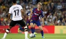 التشكيلة الرسمية لموقعة برشلونة وفالنسيا