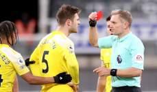 الاتحاد الانكليزي يقرر إلغاء الطرد للاعب فولهام