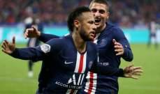 علامات لاعبي مباراة باريس سان جيرمان وليون