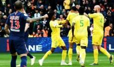 نانت يرفض تسليم ملعبه لاحتفالات باريس سان جيرمان ويفوز بثلاثية تاريخية