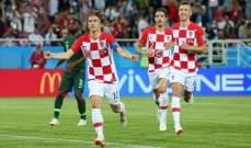 خبرة نجوم كرواتيا تمنحهم التفوق على صغار نيجيريا